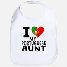 I Heart My Portuguese Aunt Bib