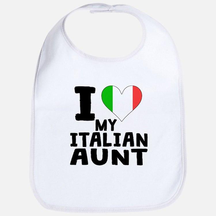 I Heart My Italian Aunt Bib