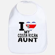 I Heart My Costa Rican Aunt Bib