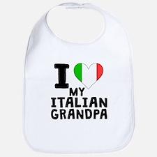I Heart My Italian Grandpa Bib
