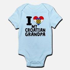 I Heart My Croatian Grandpa Body Suit