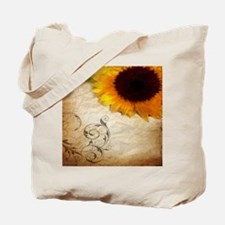 girly swirls floral sunflower Tote Bag