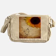 girly swirls floral sunflower Messenger Bag