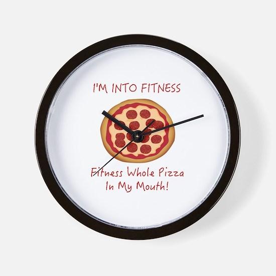 I'M INTO FITNESS, FITNESS WHOLE PIZZA I Wall Clock