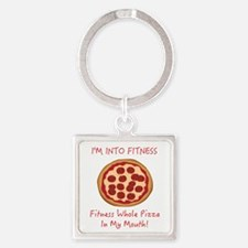 I'M INTO FITNESS, FITNESS WHOLE PI Square Keychain