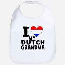 I Heart My Dutch Grandma Bib