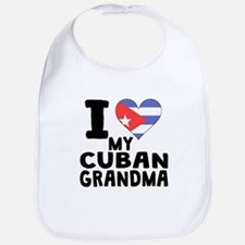 I Heart My Cuban Grandma Bib
