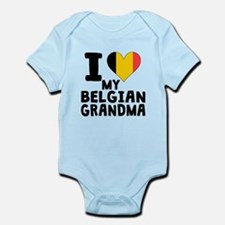 I Heart My Belgian Grandma Body Suit