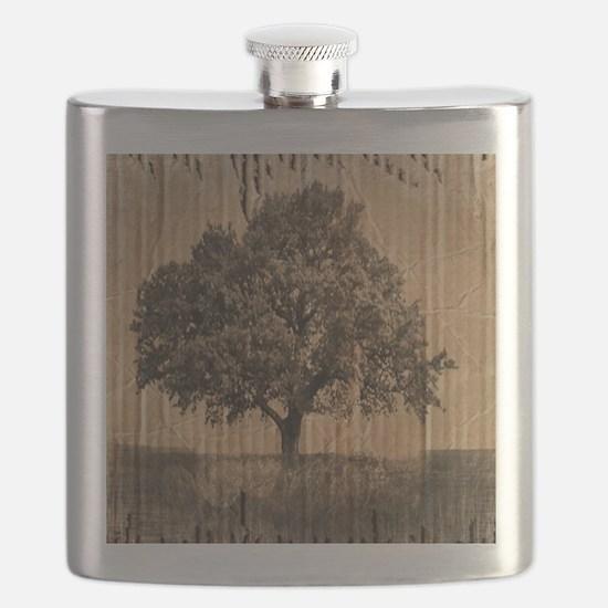 romantic landscape oak tree Flask