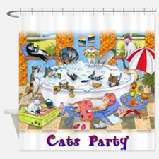 Cat 601 Shower Curtain