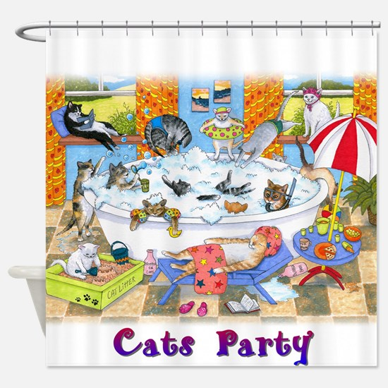 Cat 601 Shower Curtain
