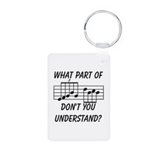 What Part Don't You Unders Aluminum Photo Keychain