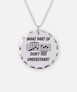 What Part Don't You Understa Necklace Circle Charm