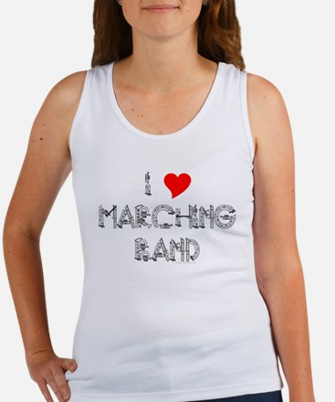 I Love Marching Band Women's Tank Top