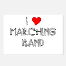 I Love Marching Band Postcards (Package of 8)