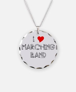 I Love Marching Band Necklace