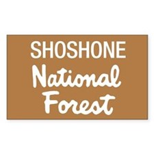Shoshone National Forest (Sign) Sticker (Rectangul