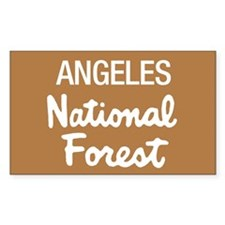 Angeles (Sign) National Fores Sticker (Rectangular