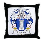 Pedrosa Family Crest Throw Pillow