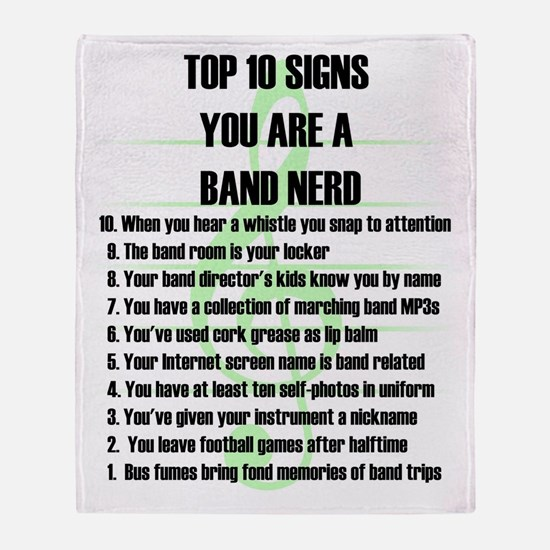 Band Nerd Top 10 Throw Blanket