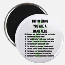 "Band Nerd Top 10 2.25"" Magnet (10 pack)"