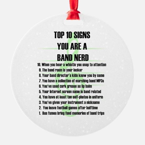 Band Nerd Top 10 Ornament