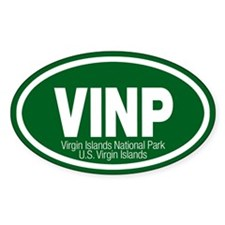 Virgin Islands National Park Oval Decal