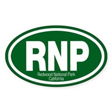 Redwood National Park Oval Bumper Stickers