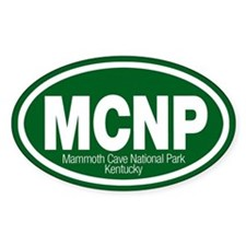Mammoth Cave National Park Oval Stickers