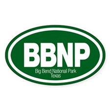 Big Bend National Park Oval Decal