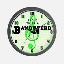 Proud to Be a Band Nerd Wall Clock