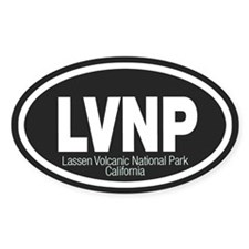 Lassen Volcanic National Park Oval Decal