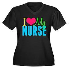 Nurse Love Women's Plus Size V-Neck Dark T-Shirt