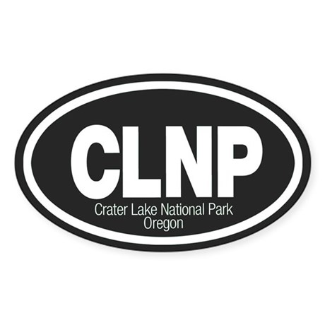 Crater Lake National Park Oval Sticker