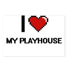 I Love My Playhouse Postcards (Package of 8)
