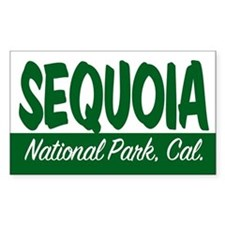 Sequoia National Park Rectangle Decal