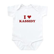 I LOVE KASSIDY Infant Bodysuit