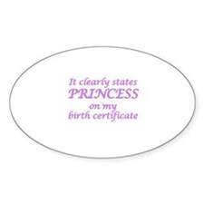 IT CLEARLY STATES PRINCESS ON MY BI Decal