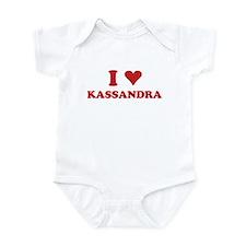 I LOVE KASSANDRA Onesie
