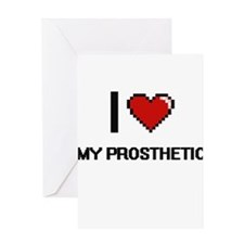 I Love My Prosthetic Greeting Cards