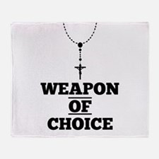 Weapon of Choice Throw Blanket