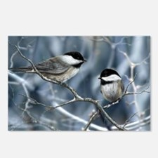 chickadee song bird Postcards (Package of 8)