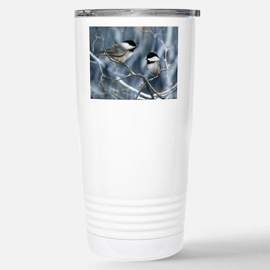 chickadee song bird Stainless Steel Travel Mug