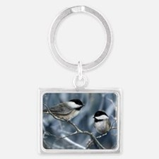 chickadee song bird Keychains