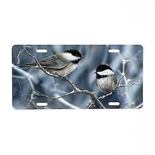 chickadee song bird Aluminum License Plate