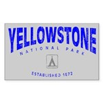 Yellowstone National Park (Arch) Sticker (Rectangu