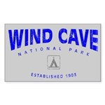 Wind Cave National Park (Arch) Sticker (Rectangula