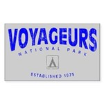 Voyageurs National Park (Arch) Sticker (Rectangula