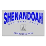 Shenandoah National Park (Arch) Sticker (Rectangul