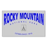 Rocky Mountain National Park (Arch) Sticker (Recta